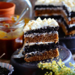 BLACK TEA CAKE WITH HONEY FROSTING