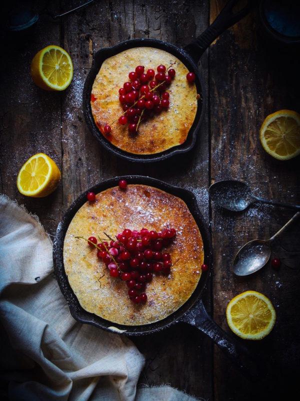 LEMON- CHIA SEED SKILLET CAKE