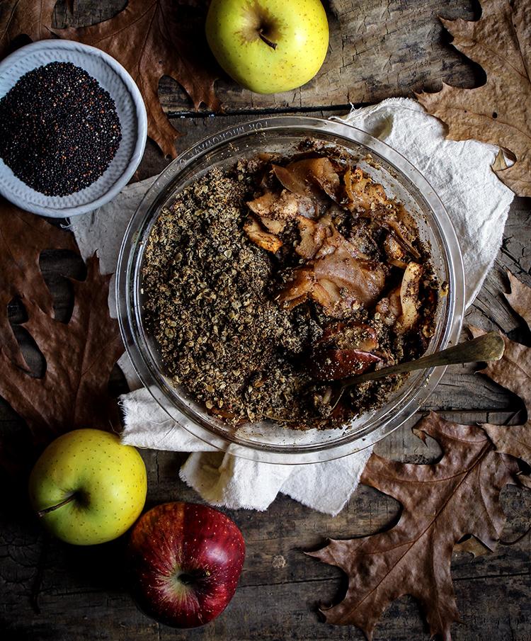apple pear quinoa crisp