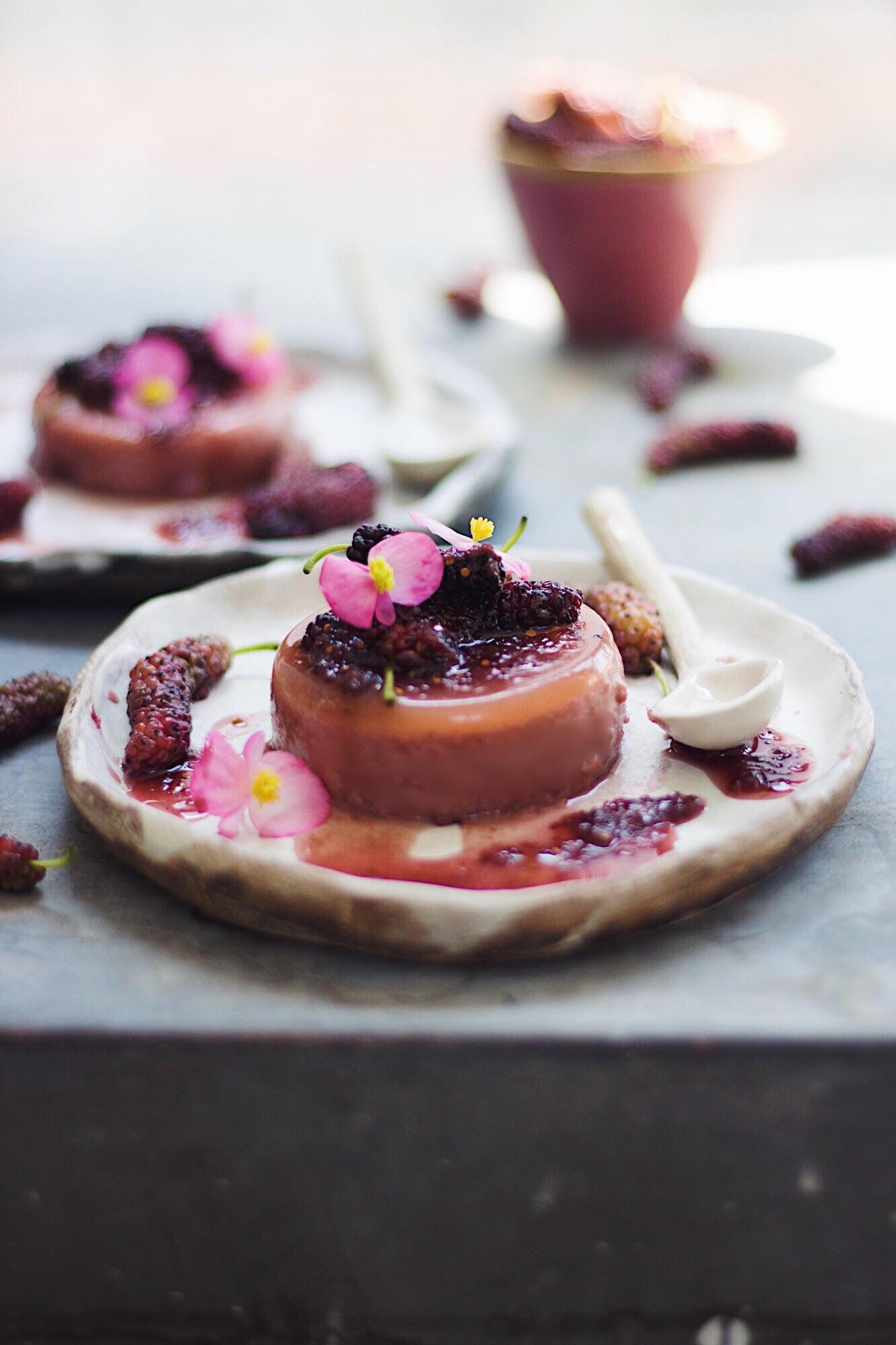mulberry pannacotta