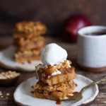 OAT APPLE CRUMBLE BARS