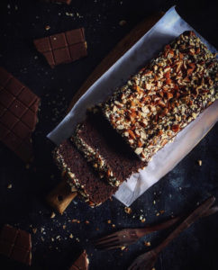 WHOLE-WHEAT CHOCOLATE LOAF CAKE