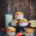 ALMOND-STRAWBERRY MUFFINS