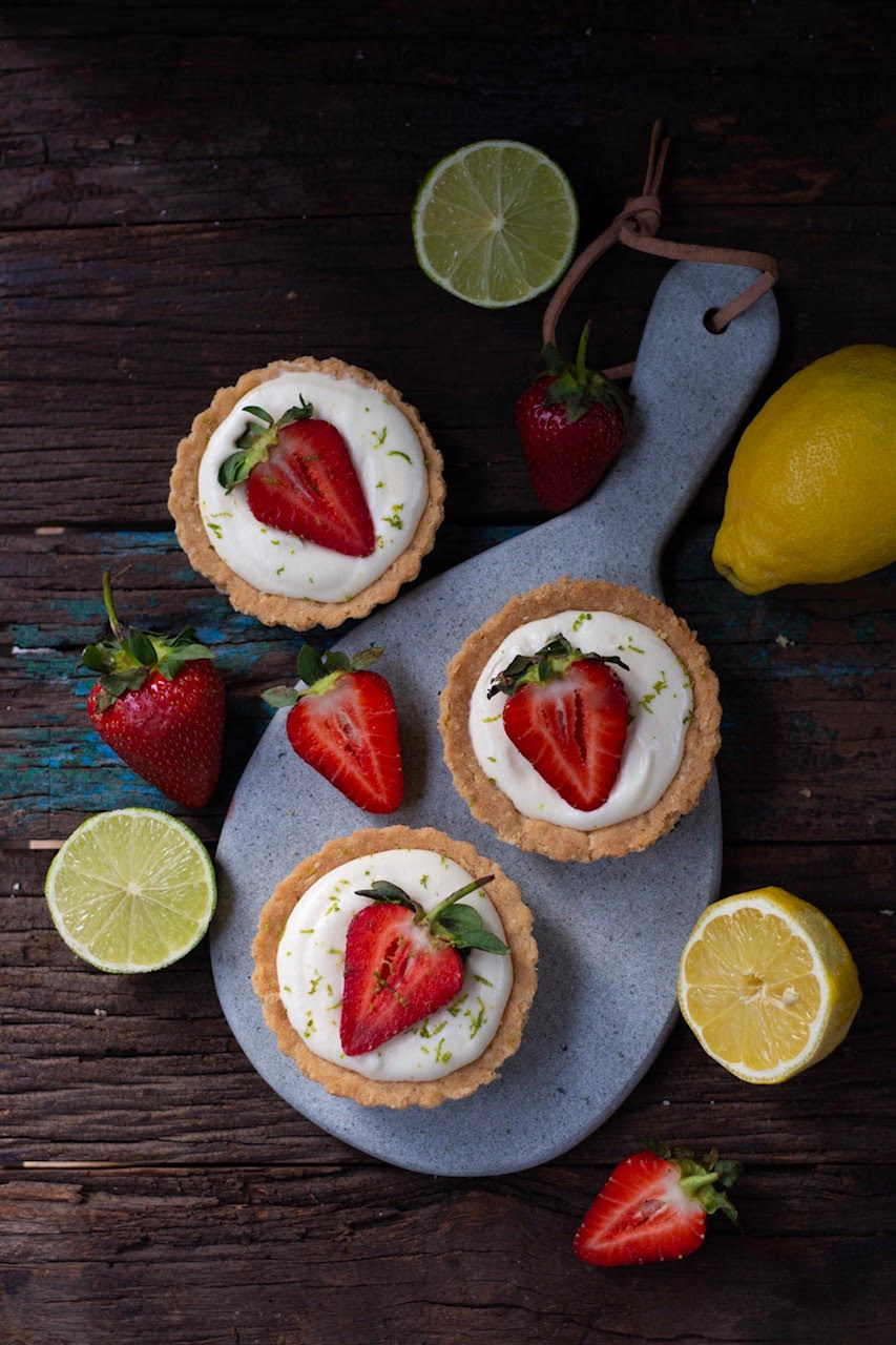 lemon strawberry tarts