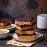 EGGLESS PEANUT BUTTER CHOCOLATE BARS