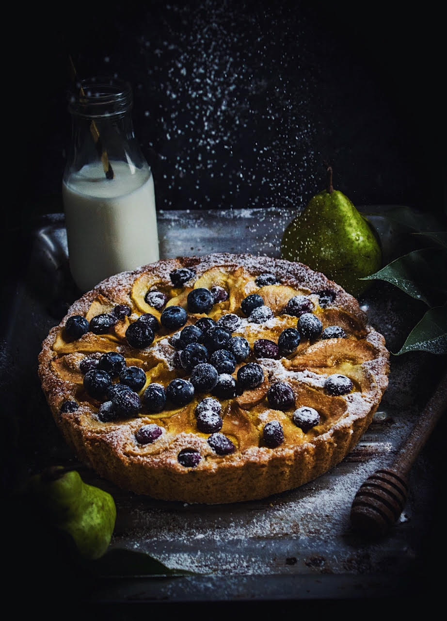 pear blueberry cake