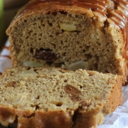 FIG AND PEAR LOAF CAKE