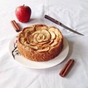 Moist Apple Cake with Caramel Sauce