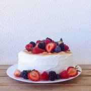 Lemon Cake with Berries (with Eggless Option)