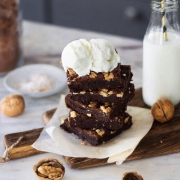 FUDGY CHOCOLATE BROWNIES ( with eggless option )