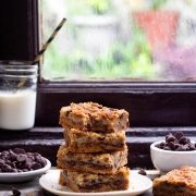 EGGLESS CHOCOLATE-CHIP COOKIE BARS