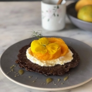 Ragi Crepes with Home-made Ricotta Cheese