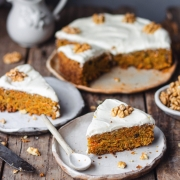 Whole Wheat Carrot Cake and cream cheese frosting