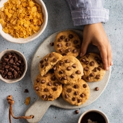 Breakfast Cookies with Cornflakes