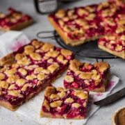 Apple and Raspberry Bars