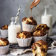 Chocolate Chip Muffins with Chocolate Crumble