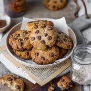 Almond Chocolate Chip Cookies- Eggless Recipe!
