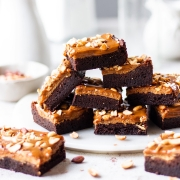 Snicker Brownies- with salted caramel