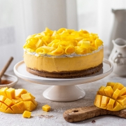 No-bake Eggless Mango Cheesecake