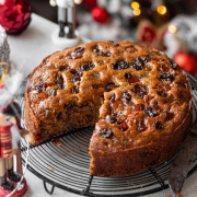 Eggless Christmas Plum Cake - No Rum!