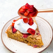 Whole-wheat Ghee Strawberry Cake