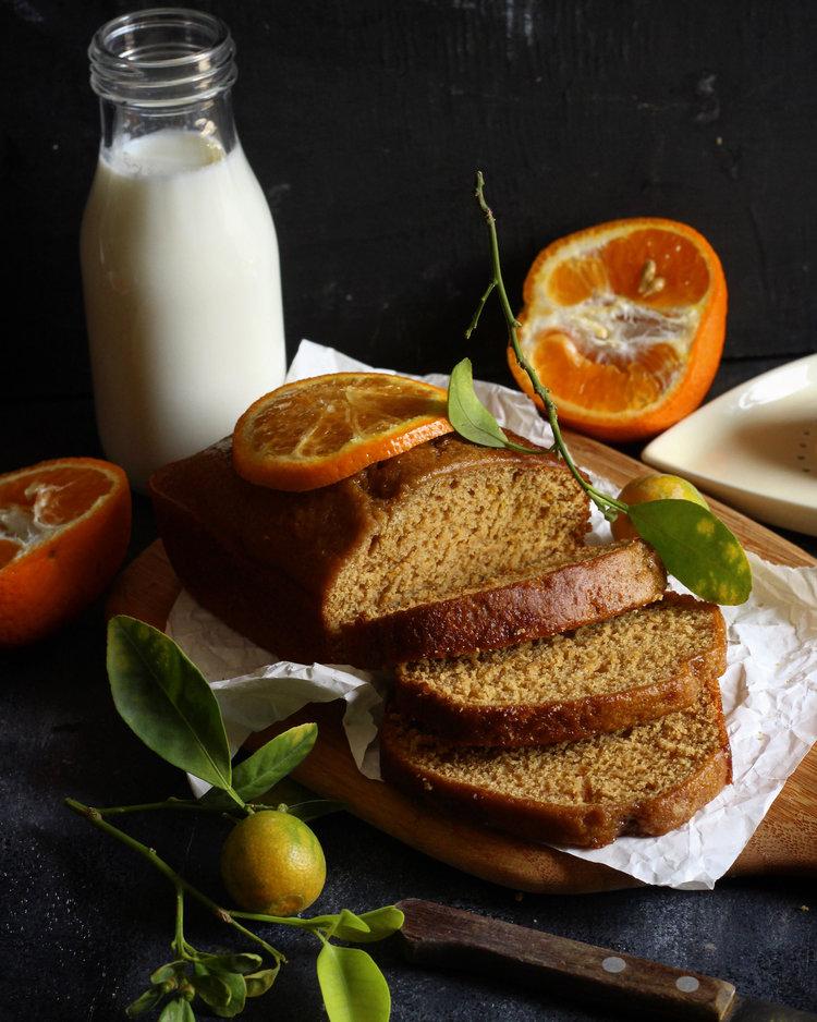 vegan orange loaf cake