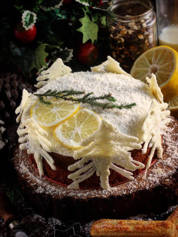 Earl Grey Lemon Coconut Cake