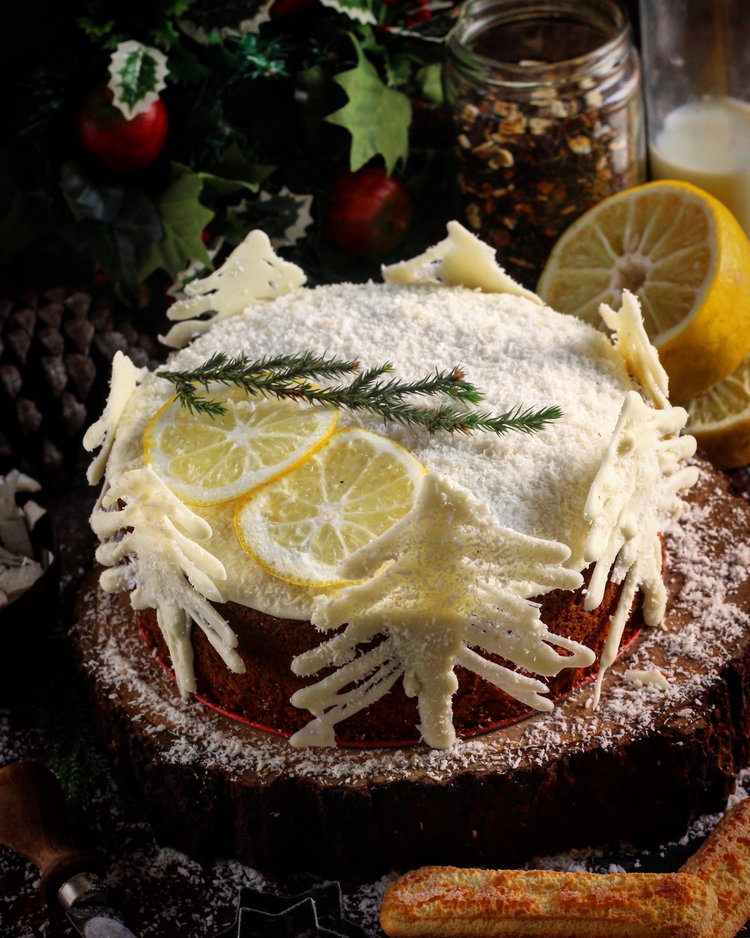 Earl Grey Lemon Coconut Cake