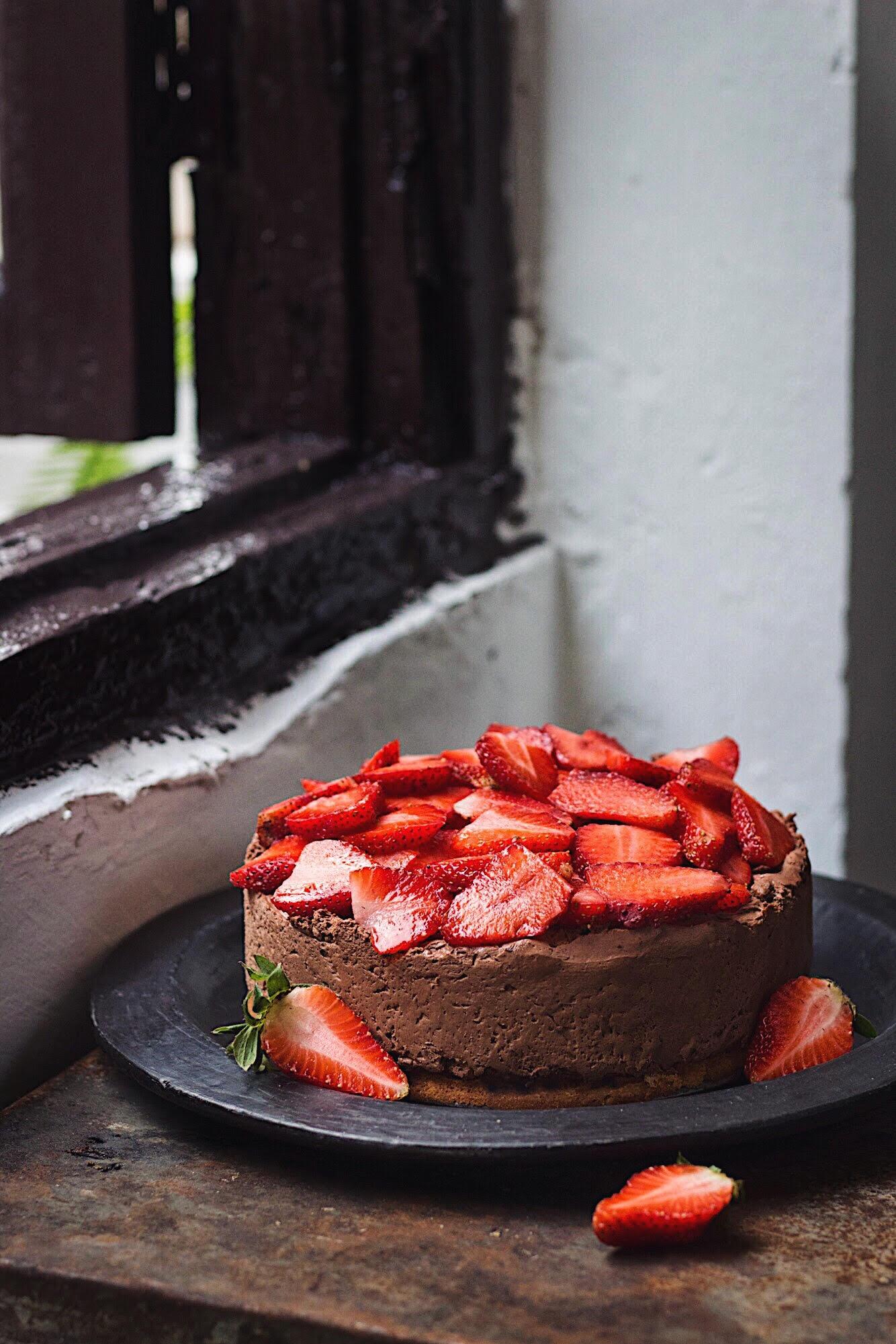 eggless chocolate mousse cake