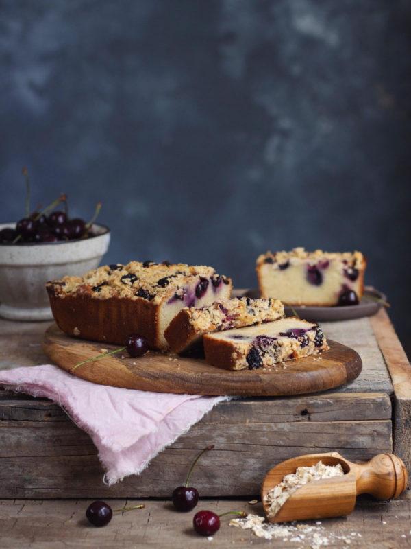 cherry vanilla loaf cake