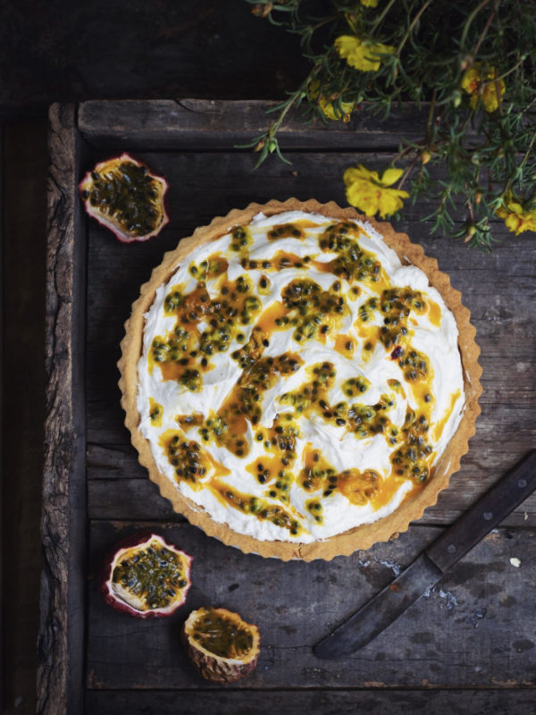 passion fruit cream cheese tart