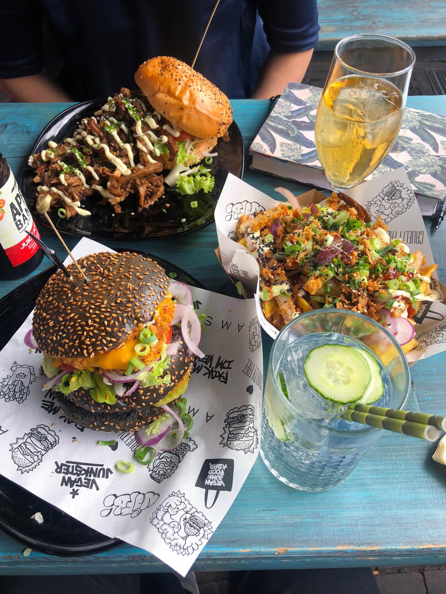 vegan junk food bar amsterdam, vegetarian food and desserts in Amsterdam