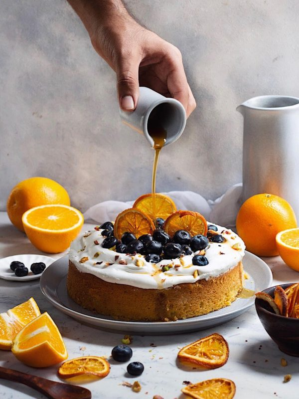 orange cake with mascarpone frosting