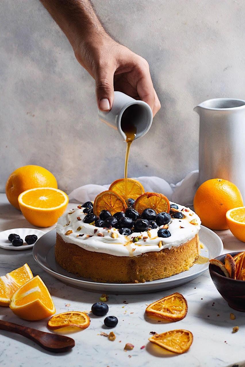 orange cake with mascarpone frosting