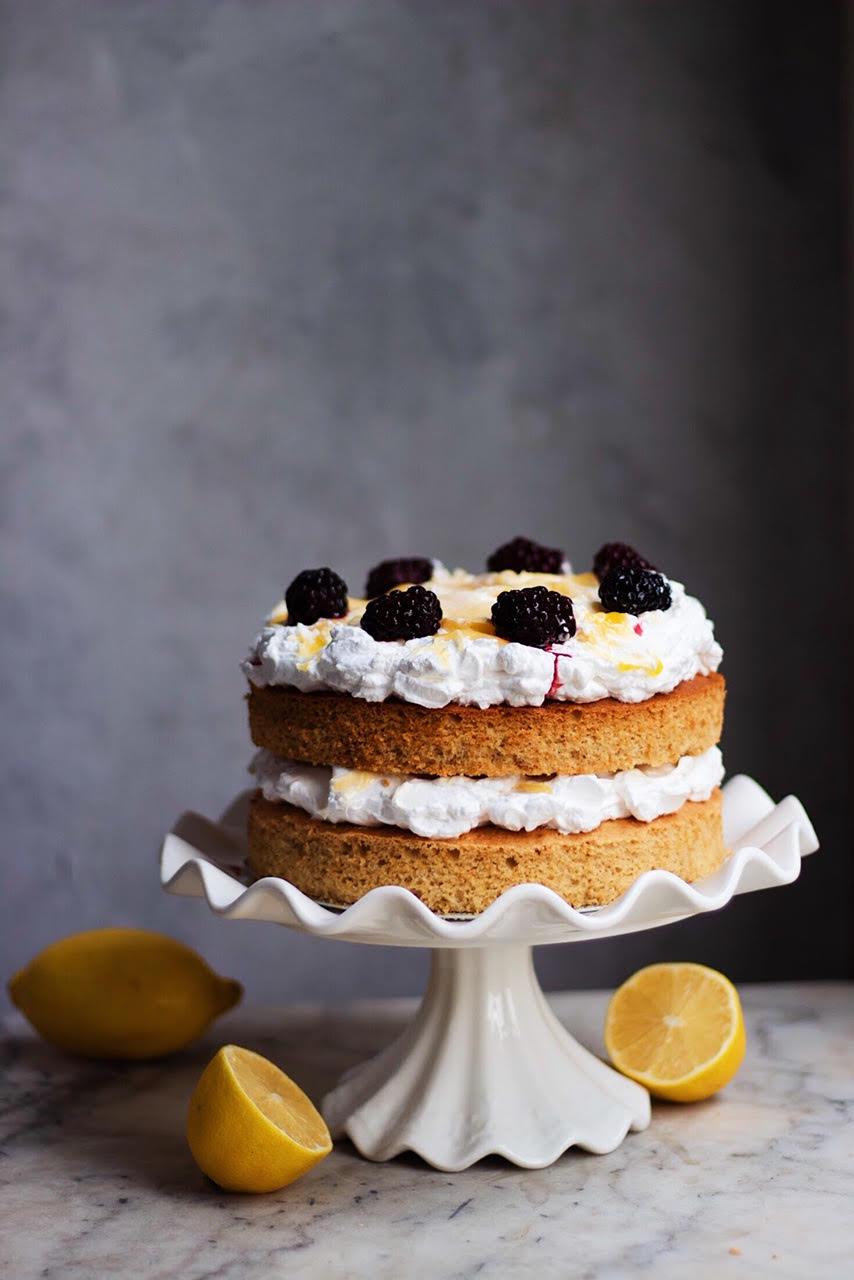 black tea lemon cake