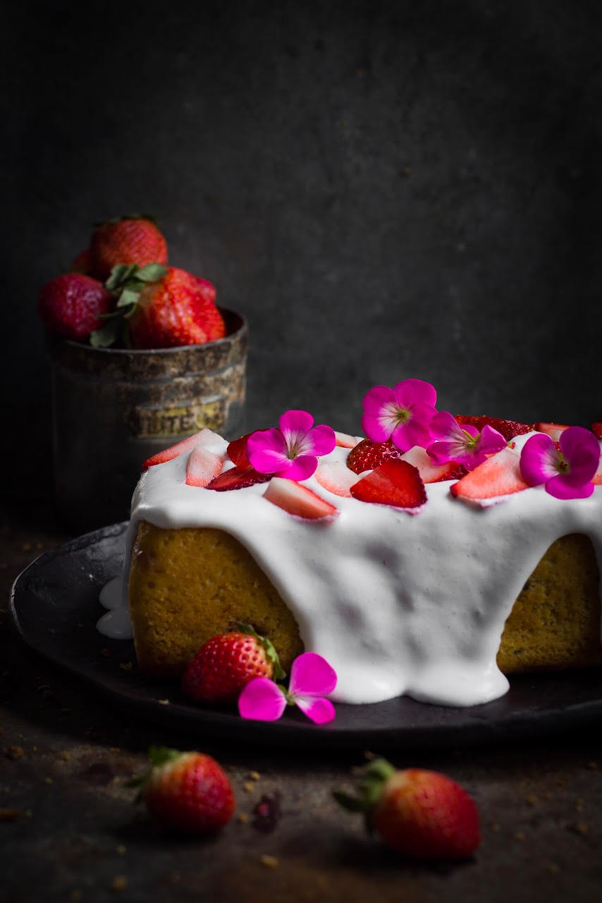 whole wheat strawberry sponge cake recipe