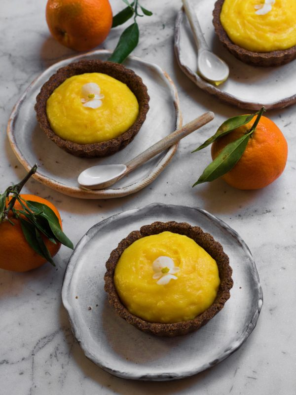Eggless and Gluten-free Orange Tarts