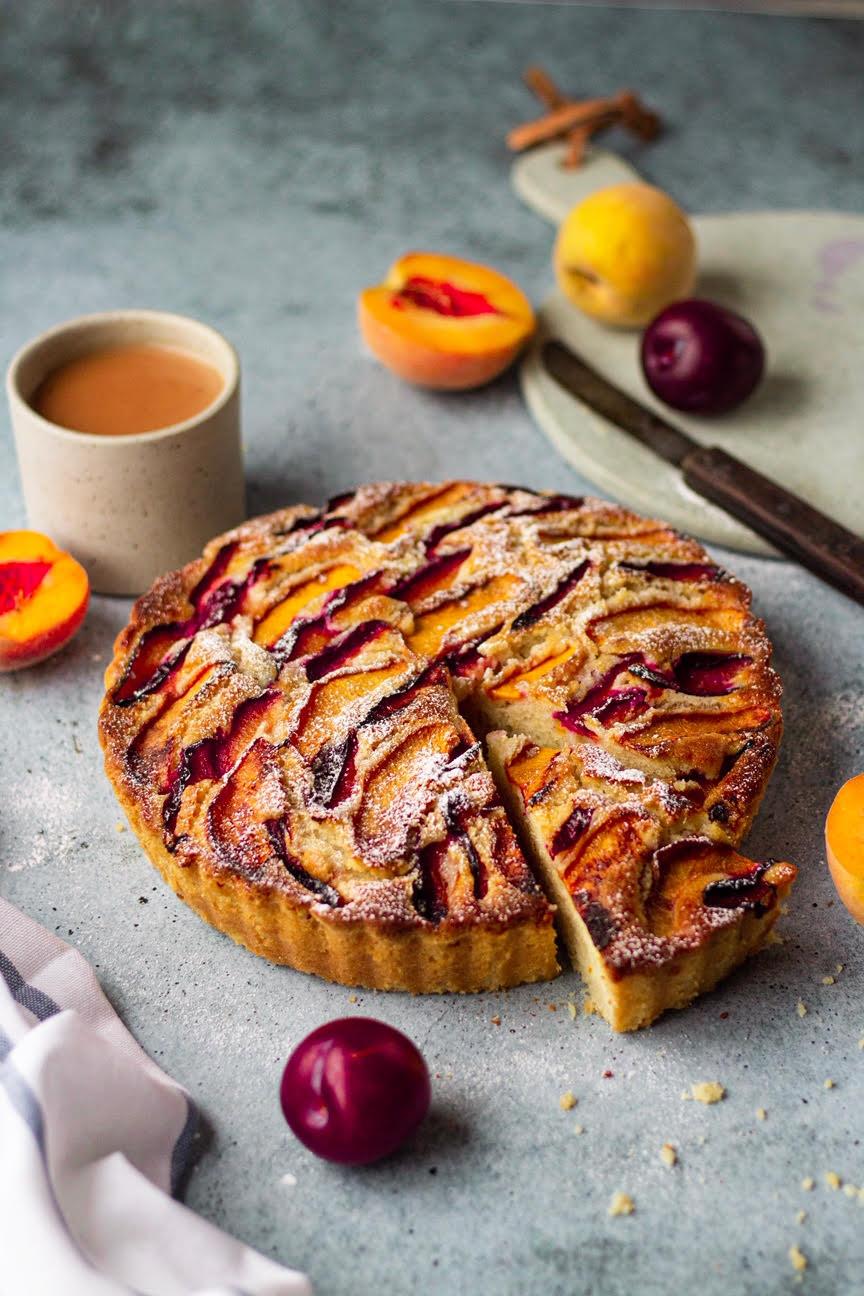 Stone Fruit cake