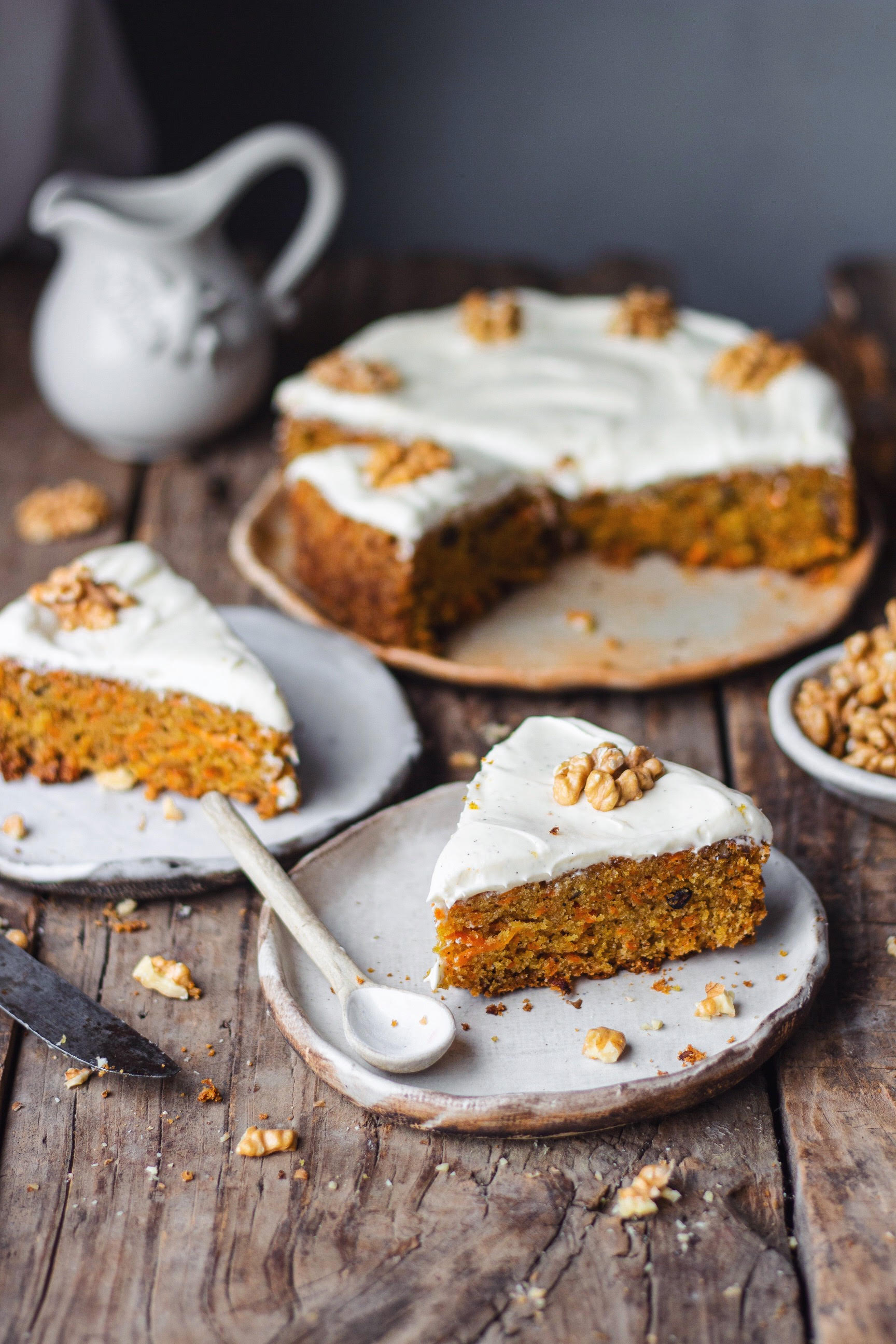 whole wheat carrot coconut cake