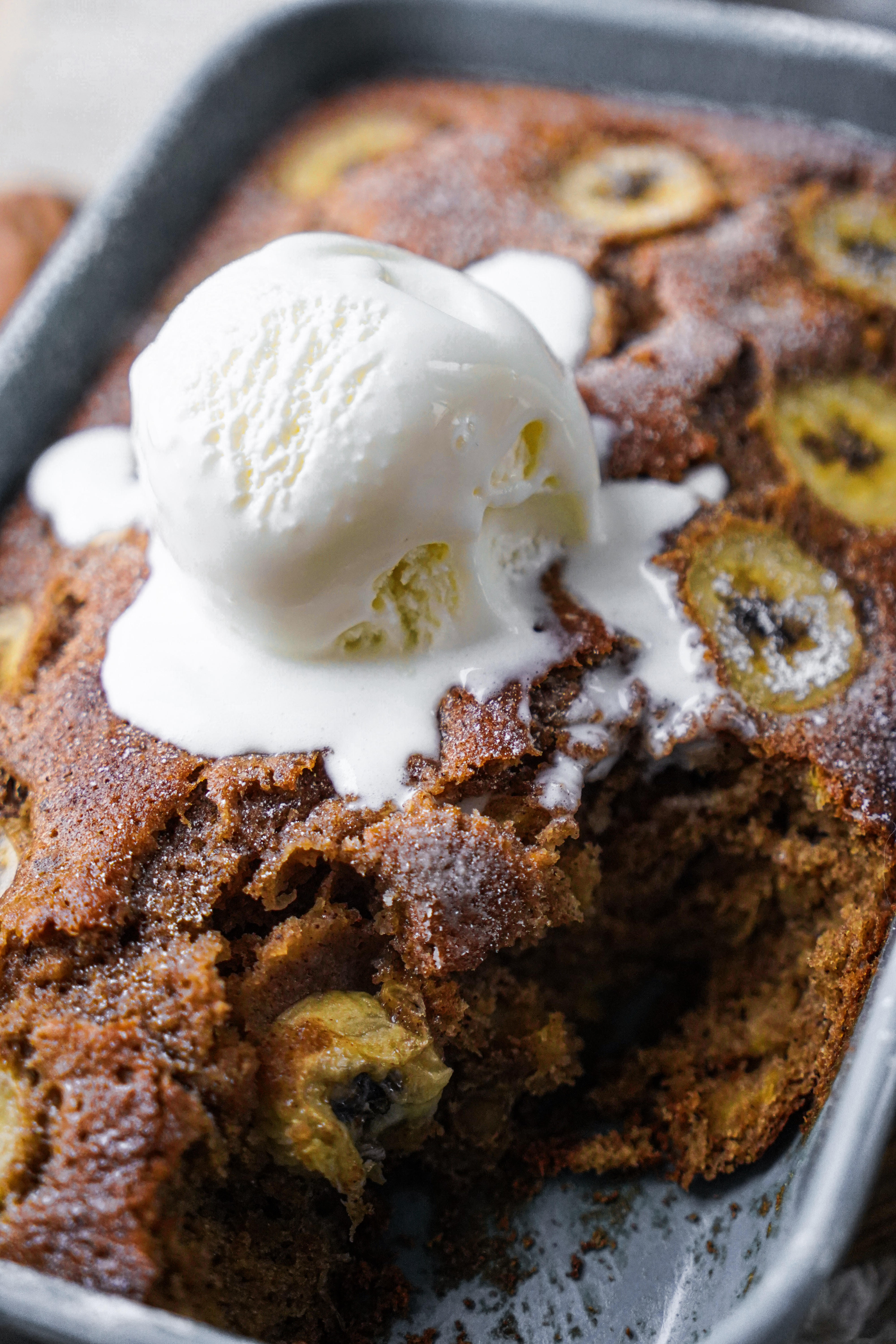 Banana Cake with Brown butter