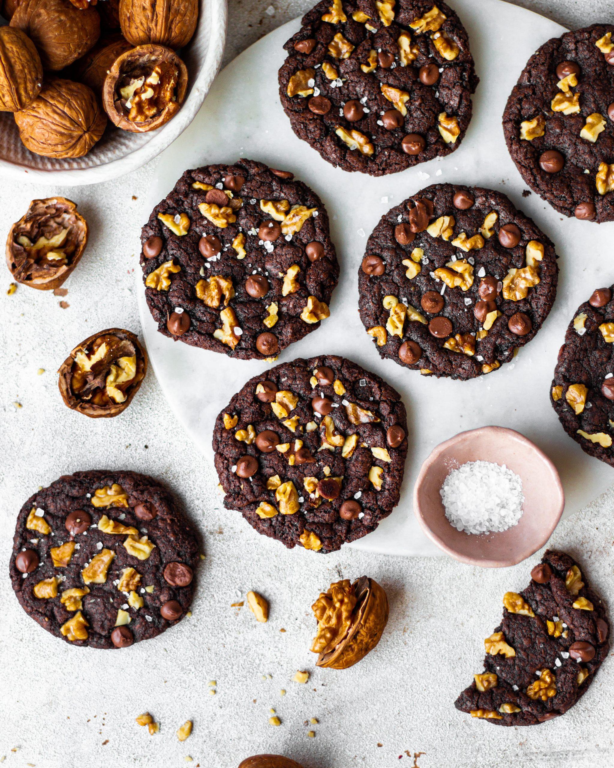 Walnut mocha cookies