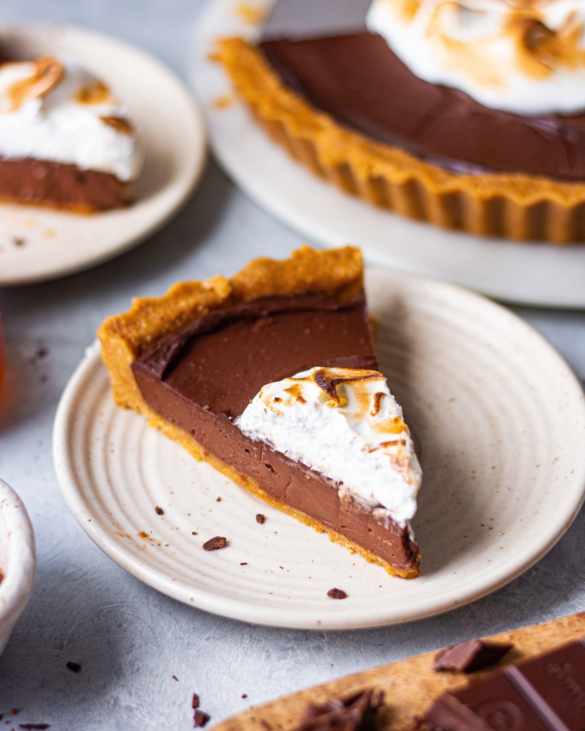 NO-BAKE EGGLESS CHOCOLATE TART