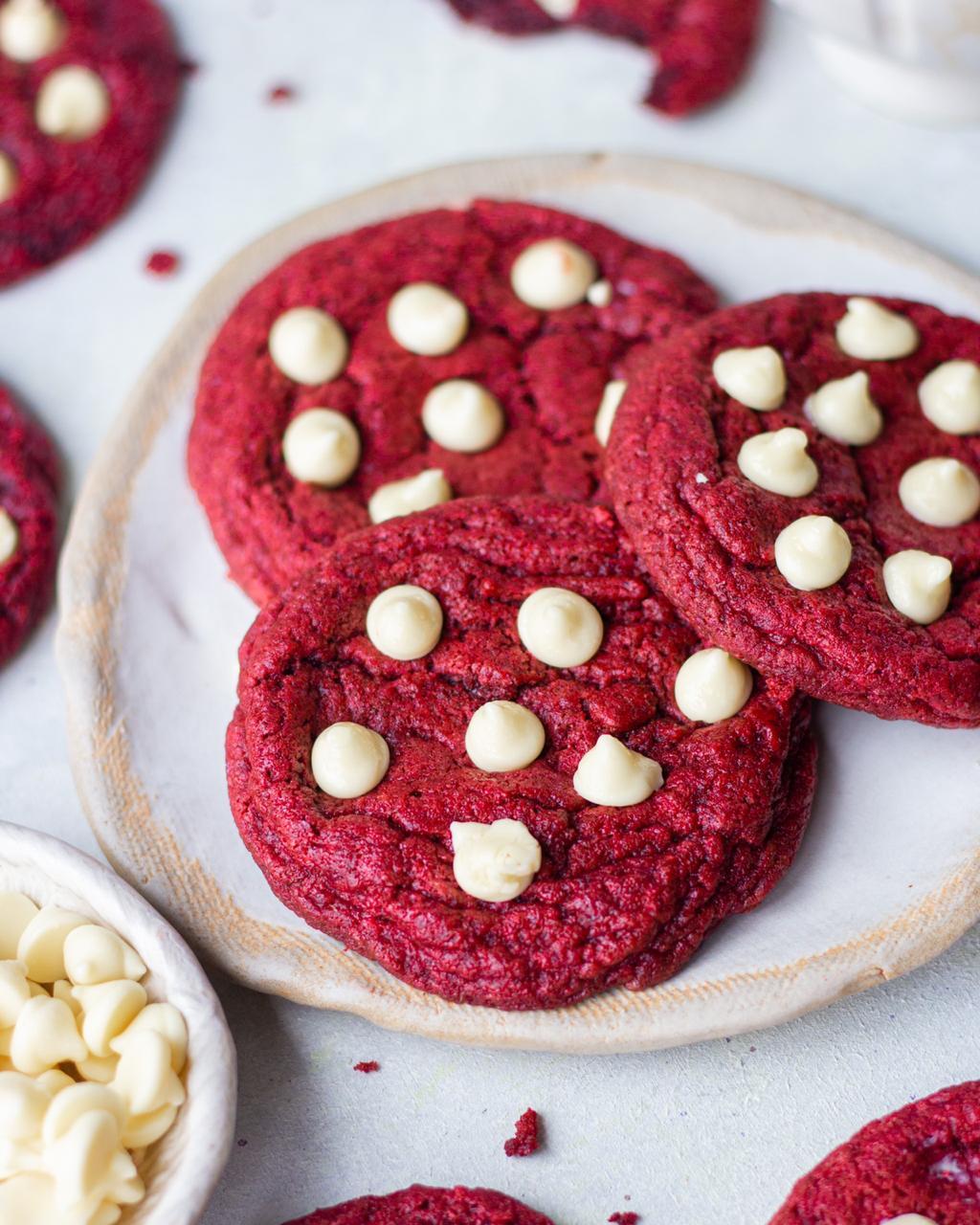 EGGLESS RED VELVET COOKIES recipe