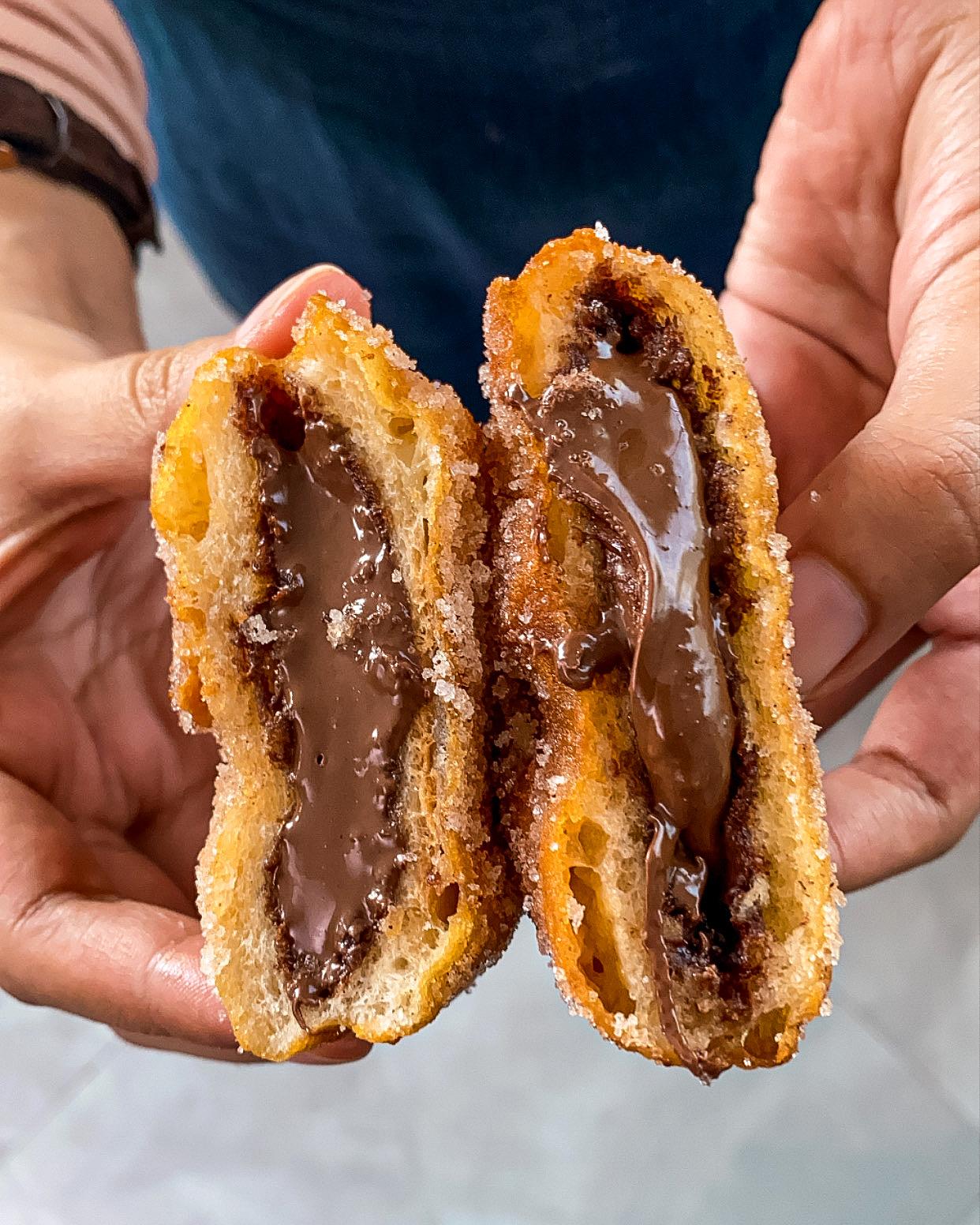 fried nutella sandwich