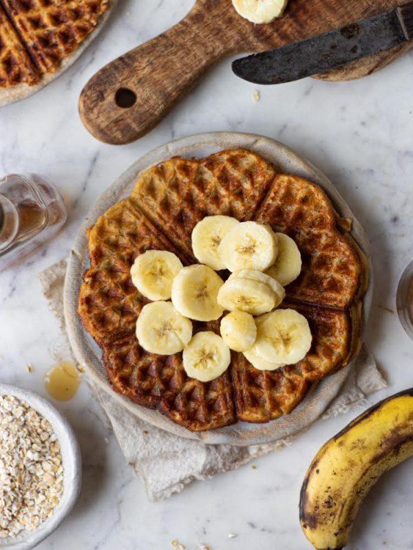eggless oat waffles
