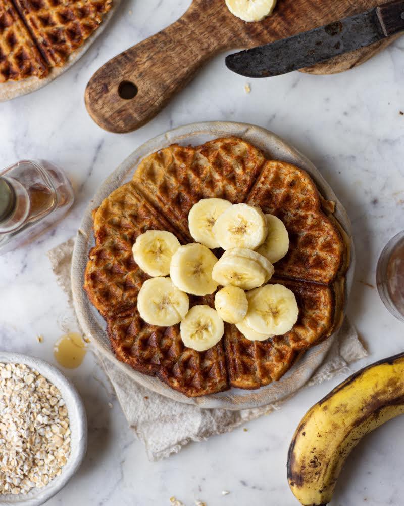 eggless oat waffles recipe