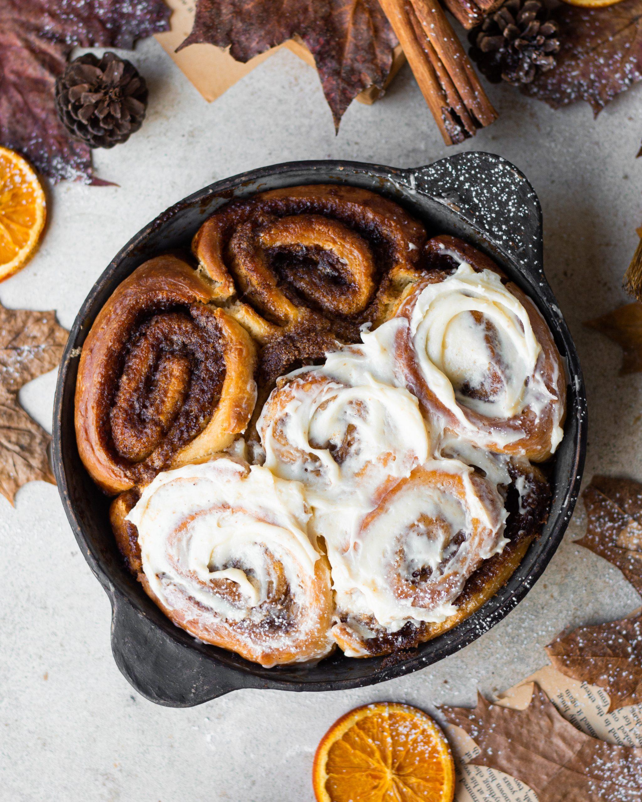 eggless cinnamon rolls
