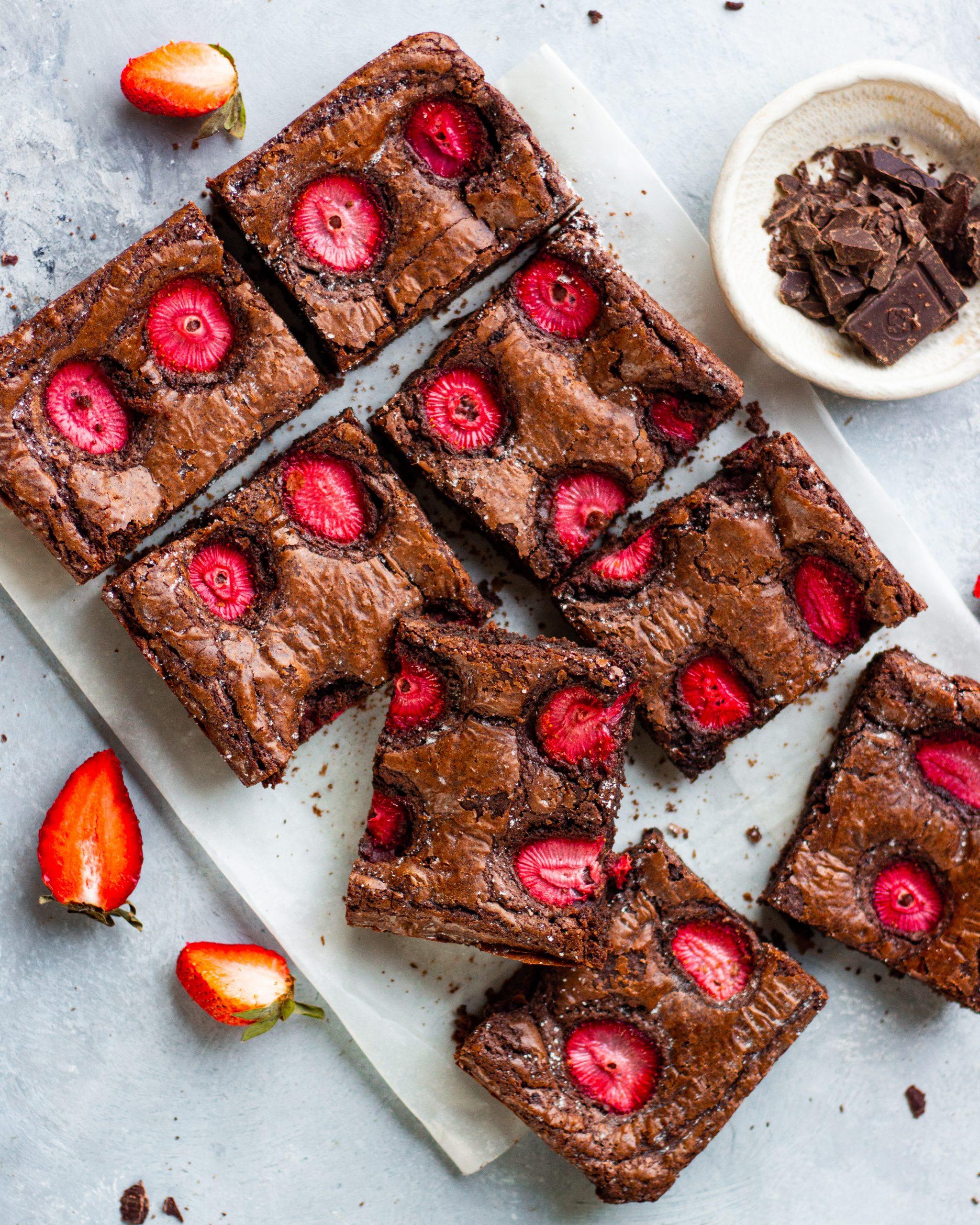 strawberry brownie
