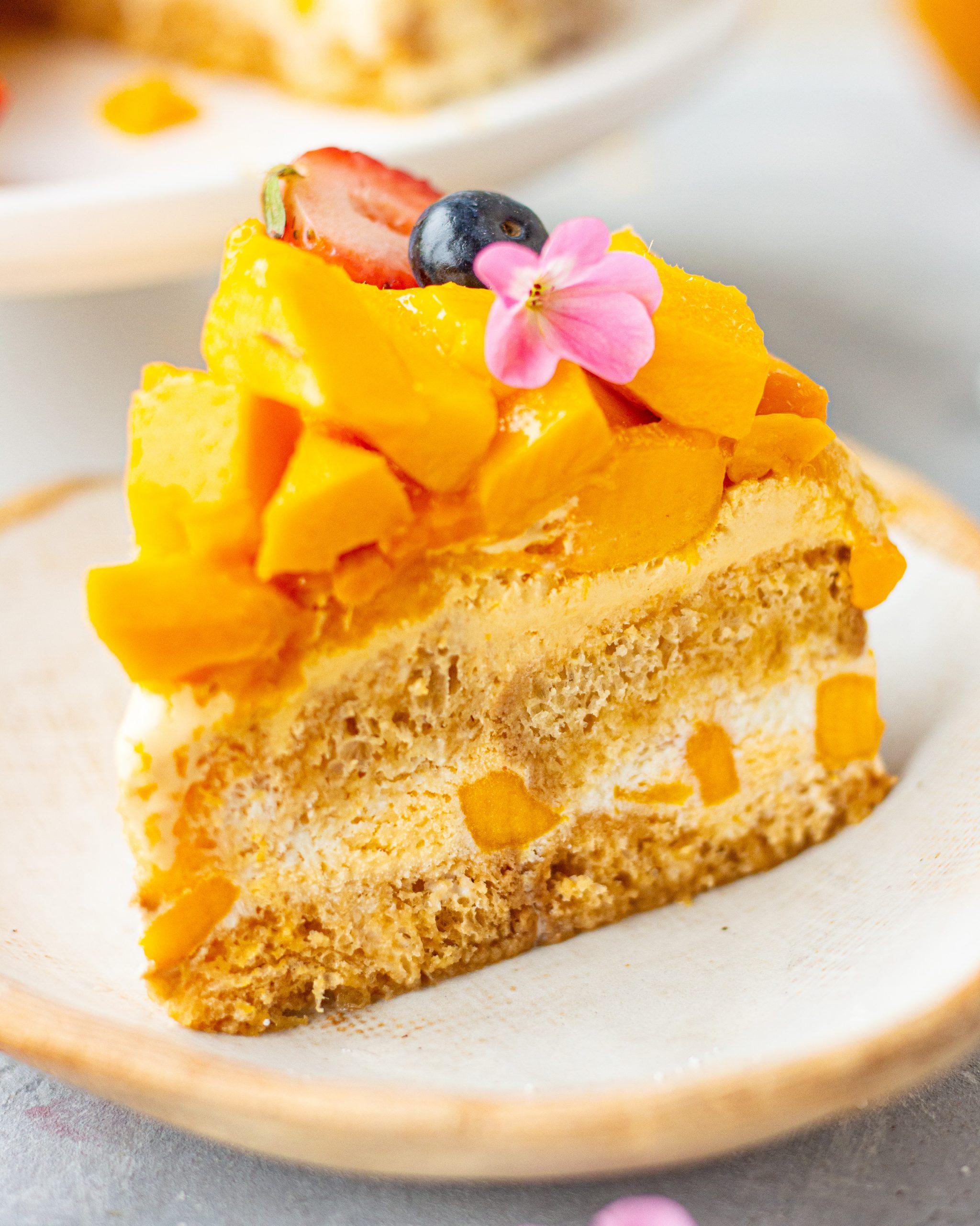mango ice cream cake