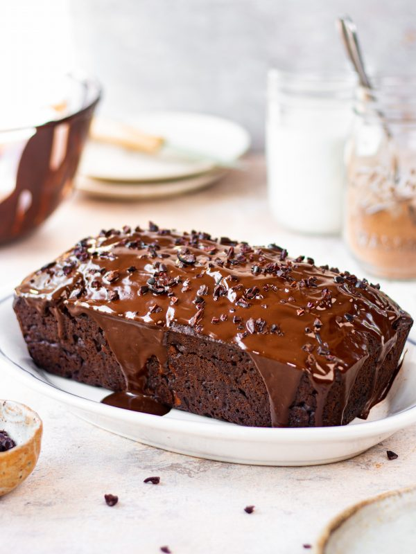 dark chocolate loaf cake